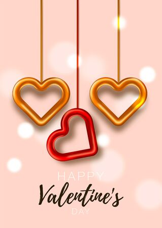 Valentine day card. Festive romantic background. Love poster special concept. Promotion brochure to Valentines day.