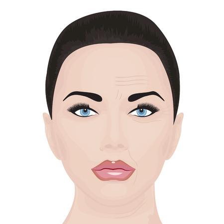 Aging face treatment vector illustration Illustration