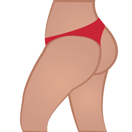 Get  slim but colored vector illustration