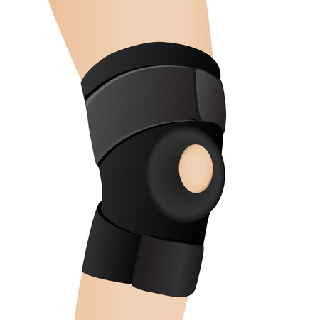 heavy: Bandage on an aching knee vector illustration