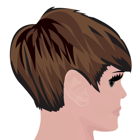 Bob haircut vector illustration on a white background Illustration