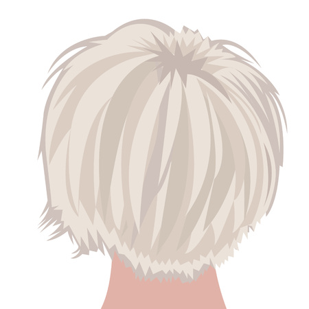 Bob haircut illustration on  white