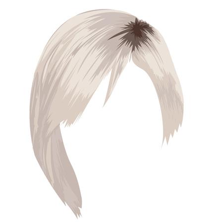 Beautiful haircut illustration on white