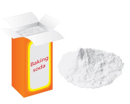 Baking soda vector illustration