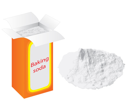 Baking soda vector illustration