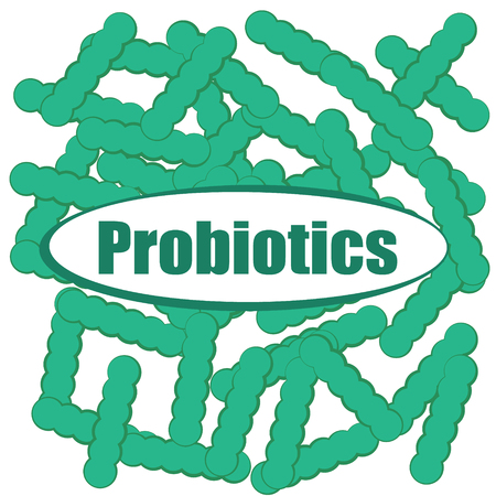 Probiotics background vector illustration