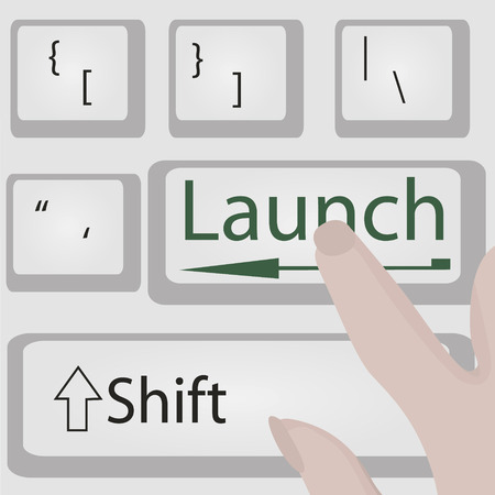 Launch button vector illustration. Business motivation  Opportunity conept Ilustração