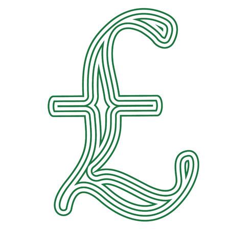 Illustration vectorielle de livre monnaie symbole sur fond blanc