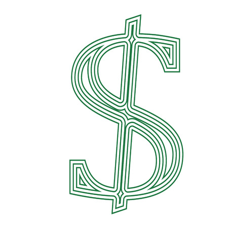 Dollar icon currency financial sign symbol vector illustration