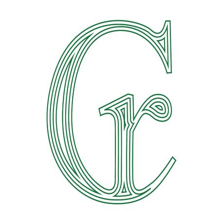 Cruzeiro Brazil currency symbol icon striped vector illustration on a white background Vector Illustratie