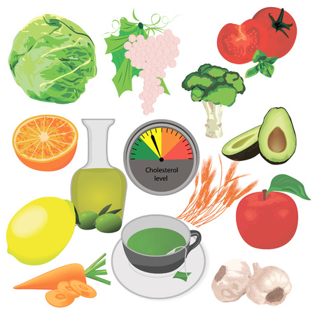 Cholesterol level control  reduce vector illustration Illustration