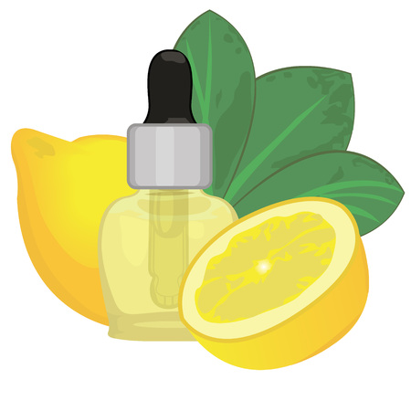 Orange essential oil vector illustration Aromatherapy Health care