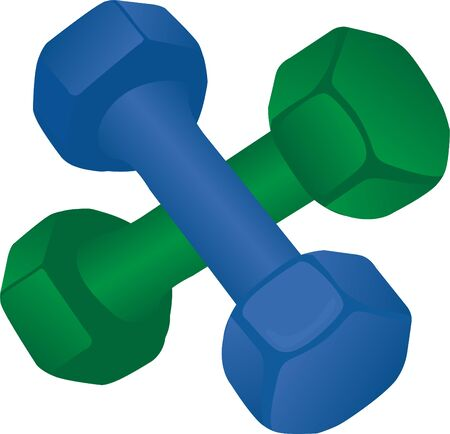 Dumbbells vector illusyttion on a white background isolated 写真素材 - 131987479