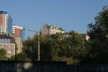 Central area in Dnipro city, Ukraine. City landscape 写真素材 - 132049624