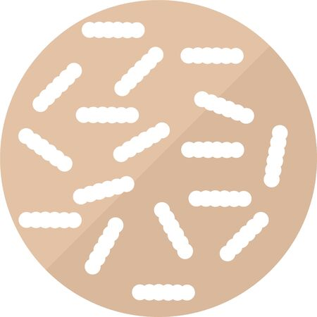 Clostridium difficile bad gutbacteria vector icon
