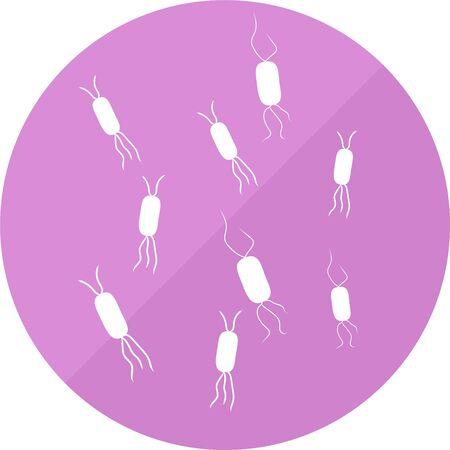 Escherichia coli gutbacteria bacterial intestinal flora vector icon