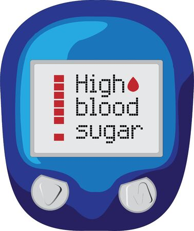 blood sugar level control device showing high blood sugar vector illustration on a white background isolated  イラスト・ベクター素材