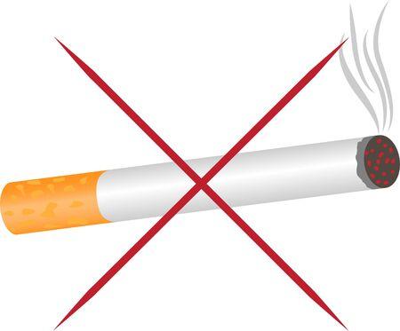 No smoking warning vector pictogram sign