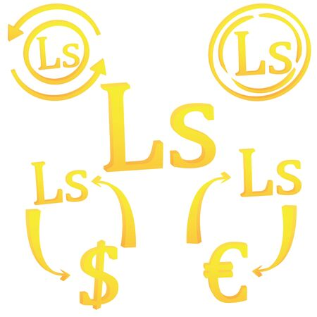 Latvian Lat currency symbol icon of Latvia vector illustration on a white background