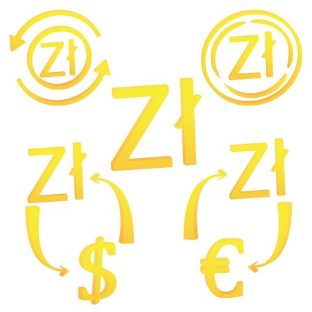 3D Zloty Polish symbol currency unit icon of Poland vector illustration on a white background