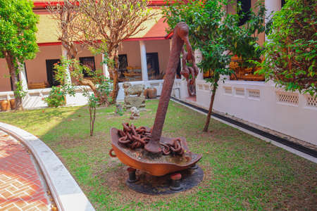 An old rusty anchor symbolizing hope and Steadfastness 写真素材