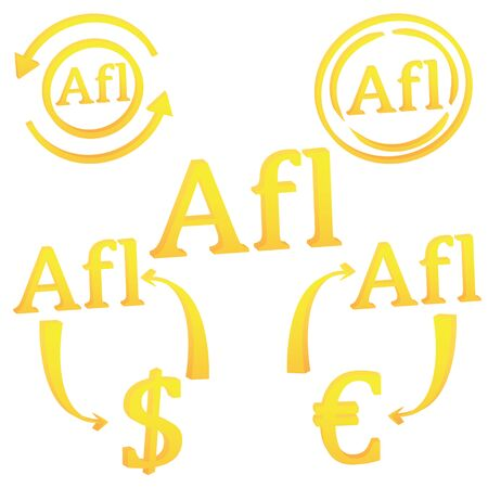 3D Aruban Florin currency of Aruba symbol icon vector illustration on a white background  イラスト・ベクター素材