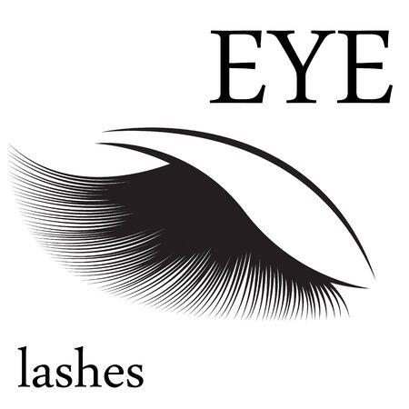 Eyelashes for beauty salon vector illustration isolated  イラスト・ベクター素材