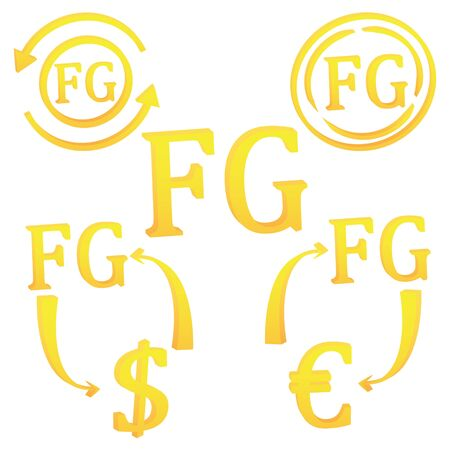 3D Guinean Frank currency of Guinea set symbol icon vector illustration on a white background  イラスト・ベクター素材