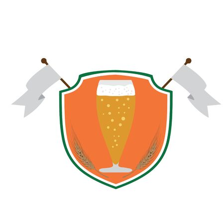 beer company or pub vector illustration in irish flag colors