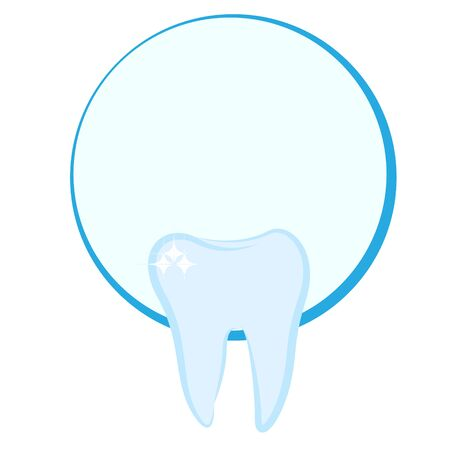 Tooth shaped icon for a dentist conpany vector illustration isolated  イラスト・ベクター素材