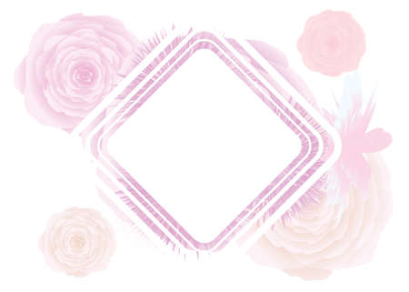Pastel pink background and some spare space for text postcard, design
