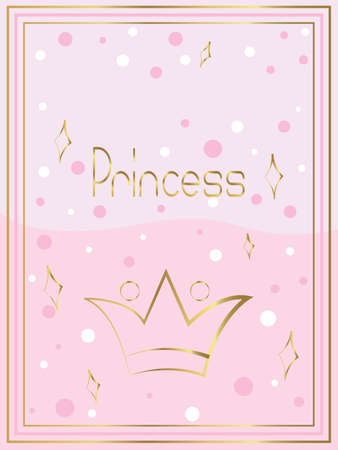 princess greeting card for girls of little age