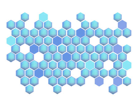 Modern abstract blue Hexagons background vector graphic design in futuristic style