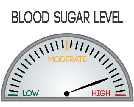 regulations blood sugar level control device vector illustration on a white background isolated 일러스트