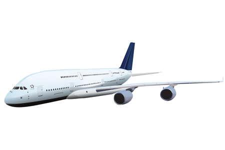 passenger plane vector illustration isolated. Global travelling concept 일러스트