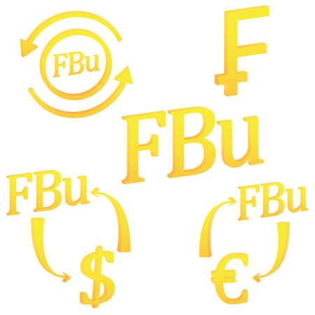 Burundian Franc currency of Burundi symbol icon vector illustration on a white background 일러스트