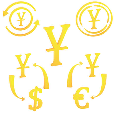 Chinese Yan currency symbol of China. icon vector illustration on a white background 일러스트