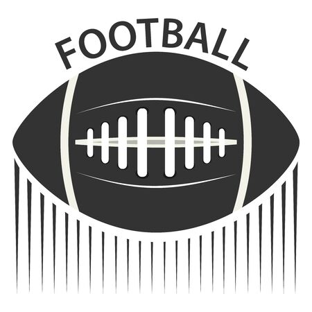 American football design elements. American Football Realistic Icons. American football standard ball sports illustration. Illustration