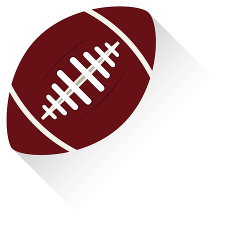 American football design elements. American Football Realistic Icons. American football standard ball sports illustration. 向量圖像