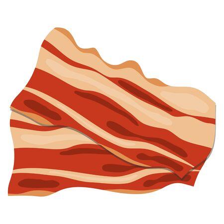 Bacon, bacon banner. Vector illustration of bacon. Vector