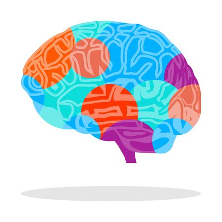 Creative brain. Abstract model of the brain. Vector illustration of creative thinking.