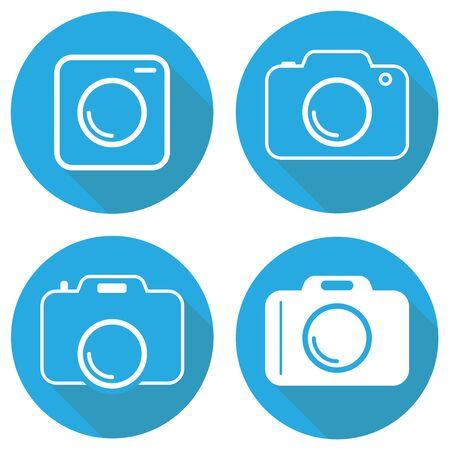 Camera, camera icon. Vector illustration of a camera icon. Flat design, vector. Vector.