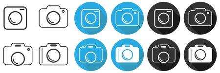 Camera, camera icon. Vector illustration of a camera icon. Flat design, vector. Vector. Imagens - 134878151