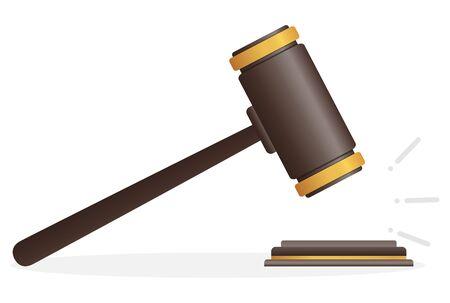 Auction court hammer. Judge hammer icon law gavel.