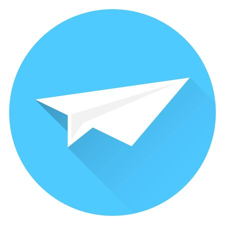 Paper airplanes, flying paper airplanes. Vector