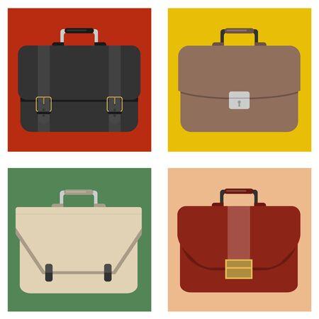 Briefcase, mens business briefcase. Vector illustration. Vector