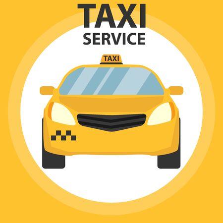 Taxi service vector icons. Taxi signs. Checkered taxi, car, passenger, transportation, trip. Vector Foto de archivo - 134878560