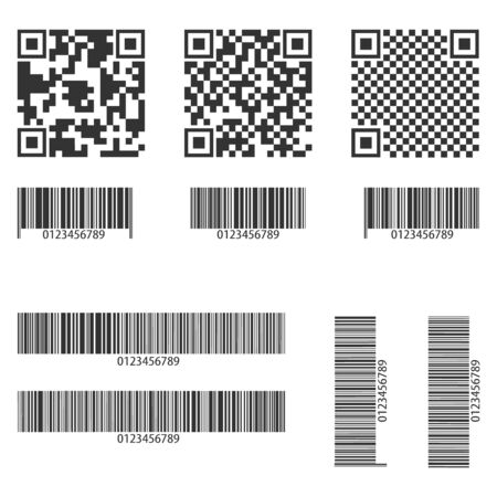 Barcode, a set of various barcodes isolated on white. Vector illustration, vector. Ilustrace