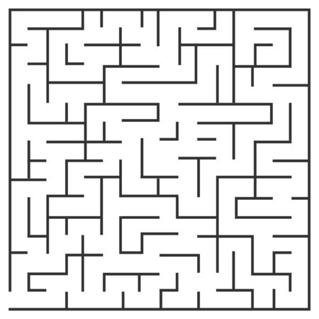 Labyrinth, puzzle, passage of the maze. Vector, cartoon illustration of a maze. Vector