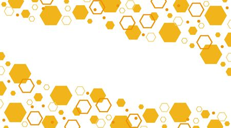 Banner in the form of a honeycomb. Bee honeycombs. Vector, cartoon illustration. Vector. Ilustração